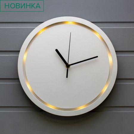 """801/053 Часы """"Минимализм с подсветкой"""" (d30см)"""