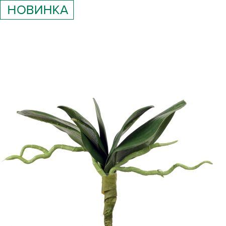 403/0441А Лист для орхидеи искуственный латекс h 20см
