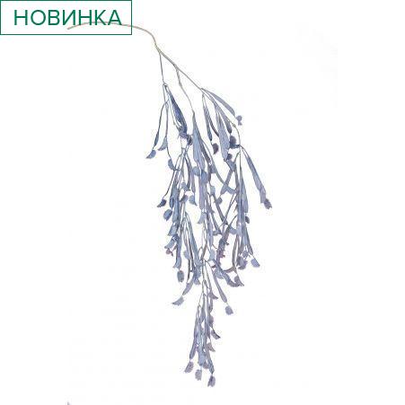 7143/0047-4/10 Куст Дионея (венерина мухоловка) искусственный, голубой, h 106 см (68+38)