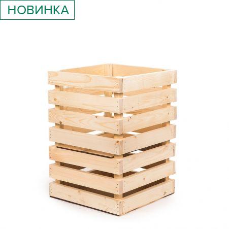 811/08-2/2 Ящик деревянный (натуральный) 30*30*h42см