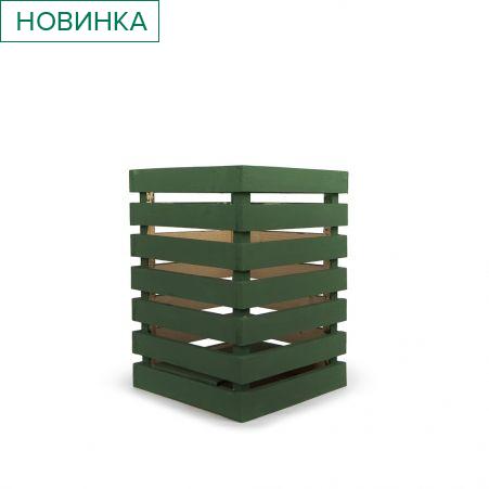 811/08-2/1 Ящик деревянный (зеленый) 30*30*h42см