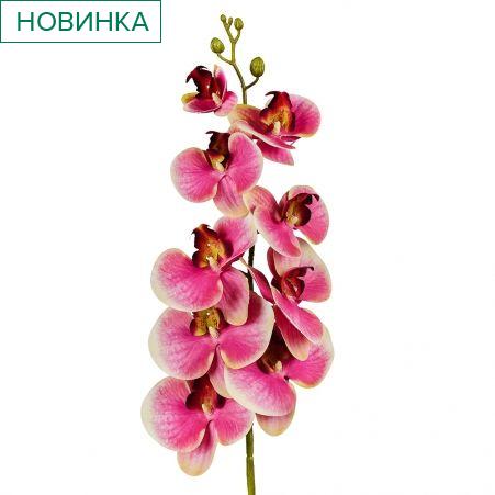 401/0187-15 Орхидея искусственная латекс h 95см малинов. (9г.)