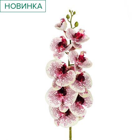 401/0187-14 Орхидея искусственная латекс h 95см бордов.-желт. (9г.)