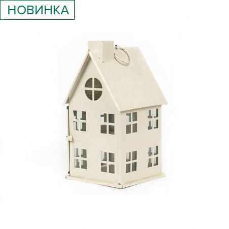 22/2928А(Sale) Подсвечник Домик (большой) (h24/11.5*11.5см)
