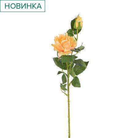 7141/9182-1/12Р Роза ветка (голова+1бутон) 70см (чайн.)