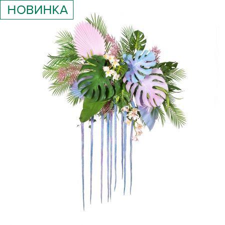 """ФК07 Фитокартина """"Тропики с орхидеей"""" (гот.изделие 95*h-200см)"""