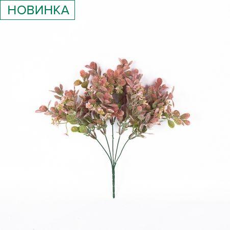 7143/0300-22 Ветка заячья капуста*5 (роз.) с цветк