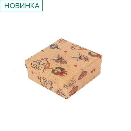 ККК14,5*14,5*6НГ Коробка квадратная крафт