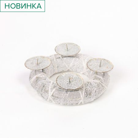 11/5115C Подсвечник НГ круглый d15см под 4 свечи