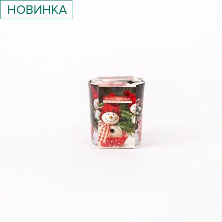 Свеча-стакан 72/25 Happy Christmas SN72S-25