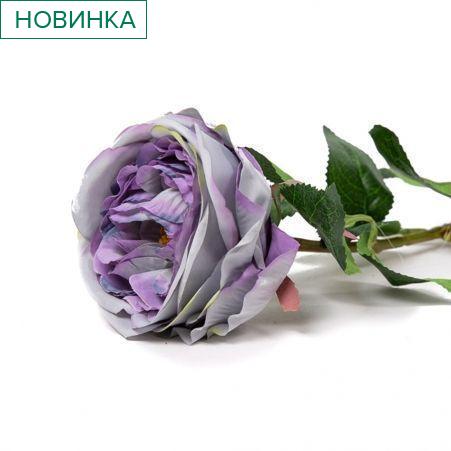 401/6063-17С Роза одиночная h68см (фиолетовая)