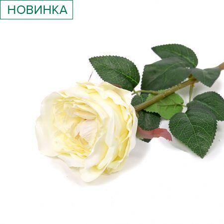 401/6063-4С Роза одиночная h68см (кремовый)
