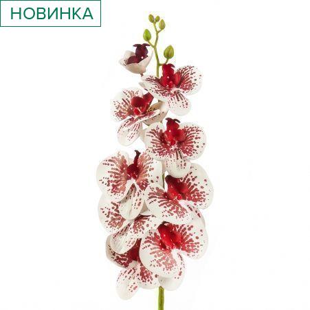 401/0150-15B Орхидея h98см(латекс) бело-малиновая