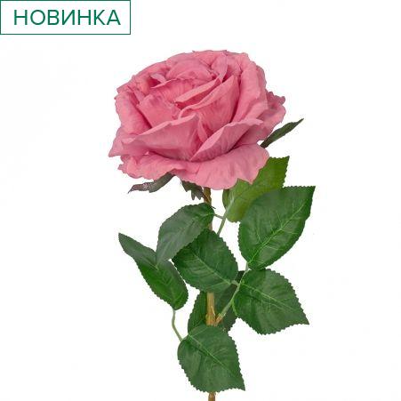 401/0215-16B Роза h78см (розово-сиреневая)
