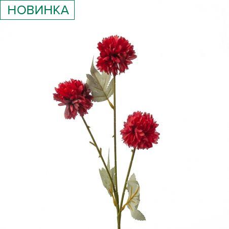 401/0237-2В Хризантема кустовая h64см (красная)
