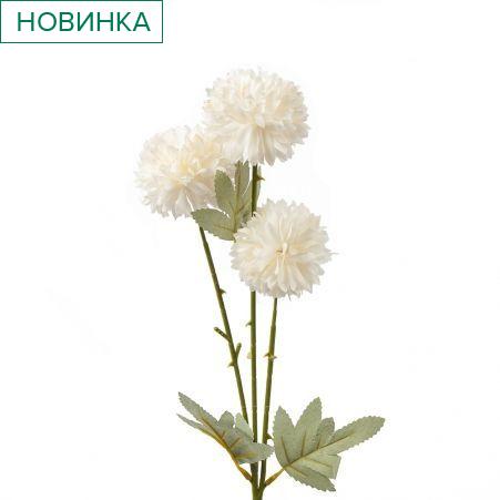 401/0237-23В Хризантема кустовая h64см (белая)