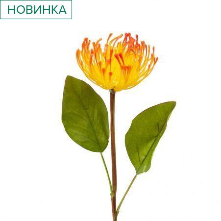 401/0329-18В Протея h54см (желто-оранжевая)