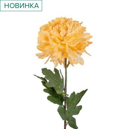 401/0742-13В Хризантема h85см (персиковая)