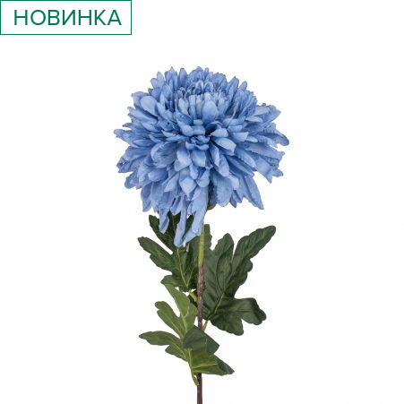 401/0742-21В Хризантема h85см (синяя)