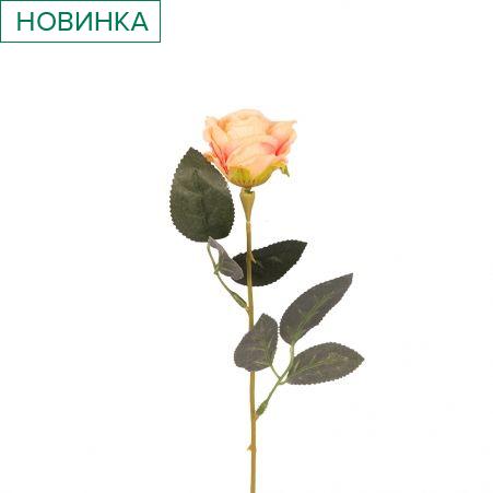 401/0048-13В Роза h56см (персиковая)