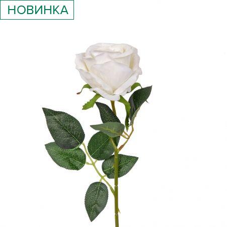 401/0013В Роза искусственная велюровая h 50см белая