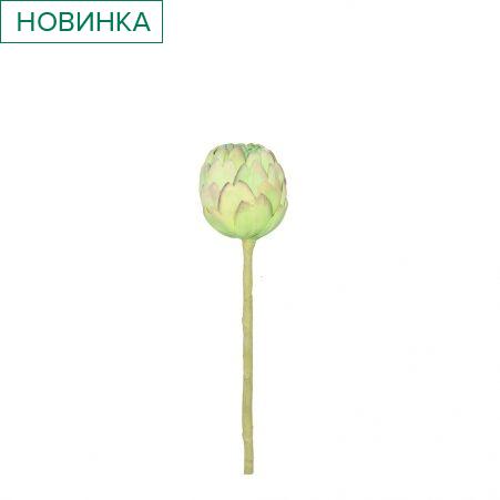 К349-1 Артишок малый d7,h30см(ревелюр) зеленый