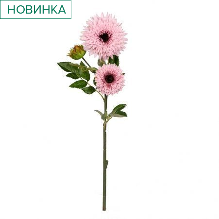 401/0049-1В Астра ветка h67см (розовая)(2гол+1бутон)