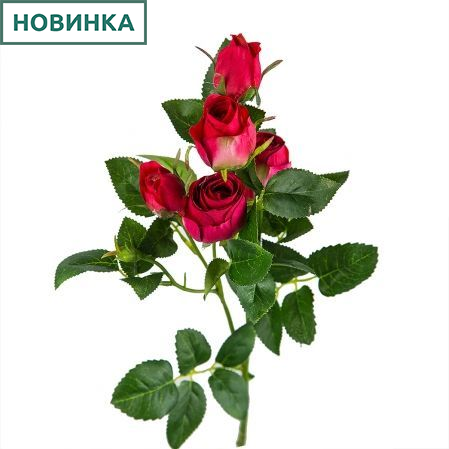 401/0173-15L Роза ветка d4; h63см (малиновый) *5б