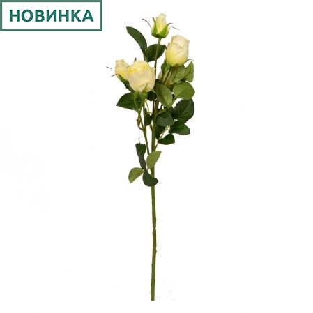 401/0173-3L Роза ветка d4; h63см (желтый) *5б