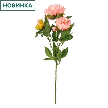 7141/9191-5/13 Пион 2гол. 1 бут. d12; h60см (персик)
