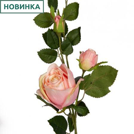 7141/9191-4/1 Роза 1гол+2бут. h72см (розовая)