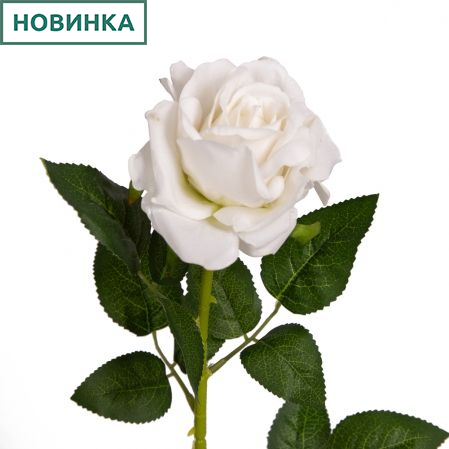 401/0217-23В Роза бархат h73см (белая)