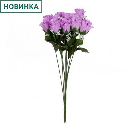 401/0220-8B Роза мини *1 h45см(сиреневая)