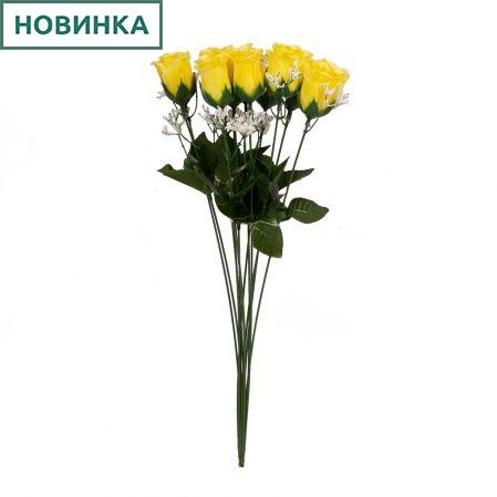 401/0220-3B Роза мини *1 h45см(желтая)