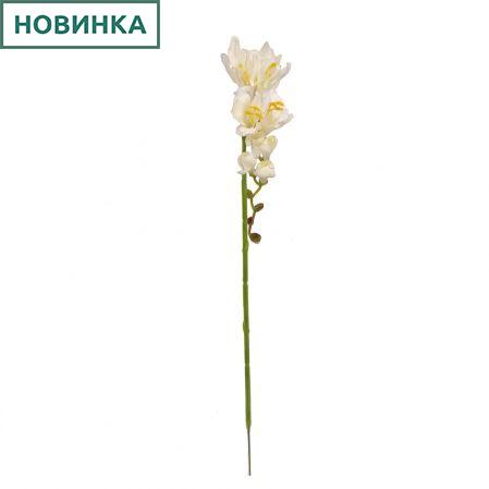 401/0238-23В Фрезия сатиновая h50+17см (белая)