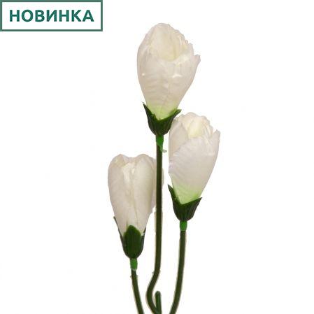 401/0643-23В Крокус h42см (белый)(3гол)