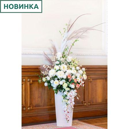 К16 Композиция цветочная на основании 34*34см