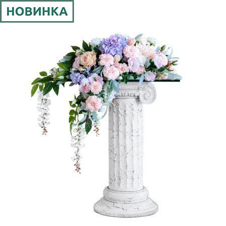 К49 Композиция цветочная на овальном основании 32*17см