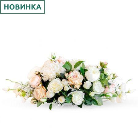 К63 Композиция цветочная на овальном основании 31*9*h3