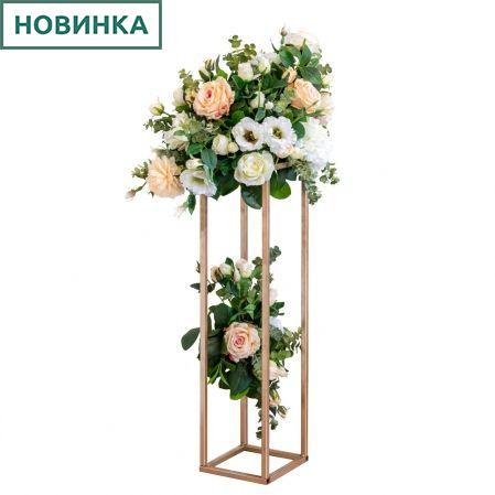К21 Композиция цветочная на металлической подставке h70см