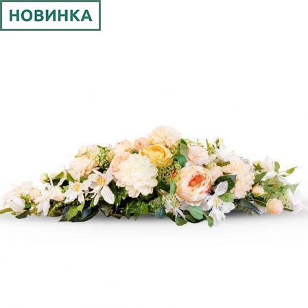 К66 Композиция цветочная на овальном основании 31*9*h3