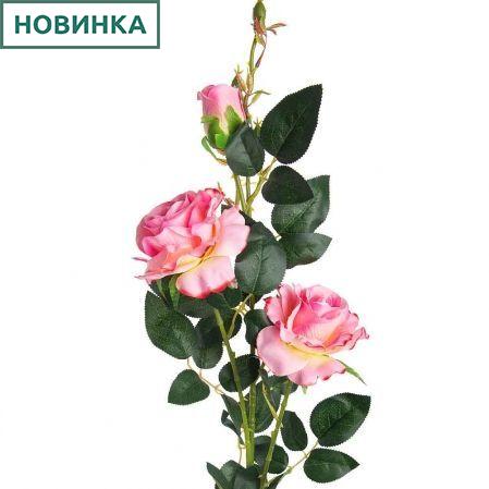7141/А2783-01/1 Роза велюр розов. h98см (2гол+1бут)