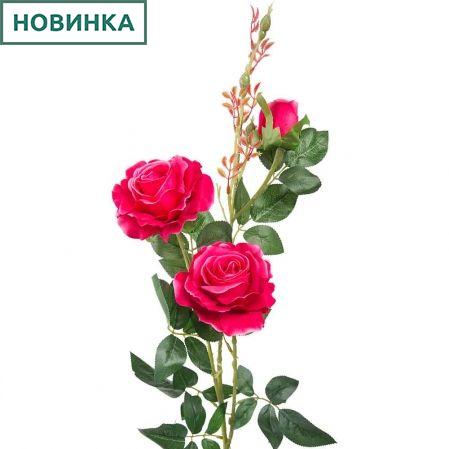 7141/А2783-01/7 Роза велюр циклам. h98см (2гол+1бут)
