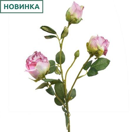 7141/А2790-05/5 Роза Ретро бледн.-розов. h52см(2г+1бут)(651)