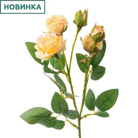 7141/А2790-08/3 Роза кустовая мелк.желтая h42см(354)