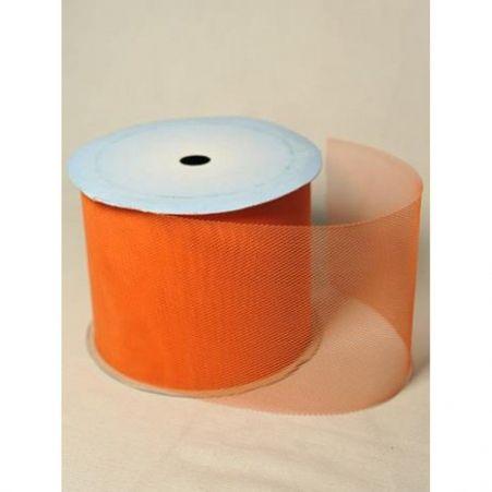 100 (Sale) Тюль на катушке (оранж)10см*10м  БТ
