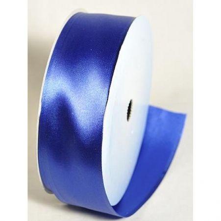 43Б Лента атласная армир. 4см*10м (синяя) БТ