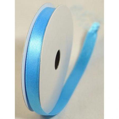 Лента атласная 1,0см(голубой)простая БТ (10м)