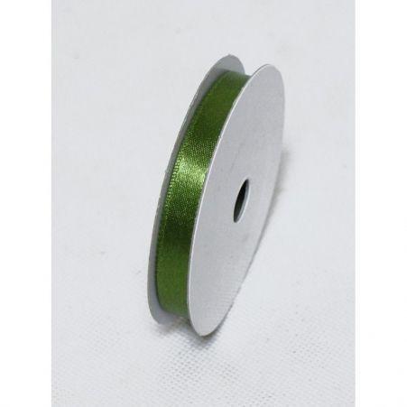 Лента атласная 1,0см(оливков)простая БТ(10м)