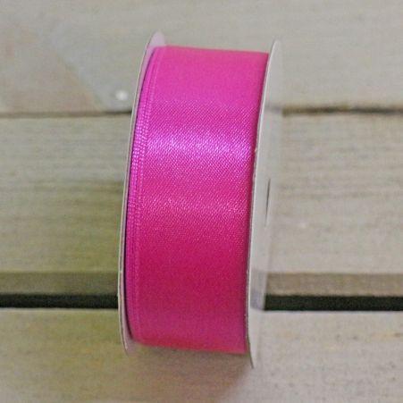 Лента атласная 2,5см (яр.розовая) простая БТ (10м)
